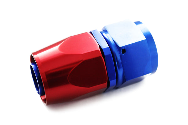 Blue/Red -12 AN Straight Swivel Hose End Fitting