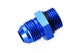 Blue -6 AN to -6 Radius Port O-Ring Adapter Straight Cut Fuel Pump Fitting