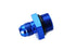 Blue -6 AN to -8 Radius Port O-Ring Adapter Straight Cut Fuel Pump