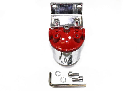 inline canister style large fuel filter frame mount 3/8 npt inlet and outlet