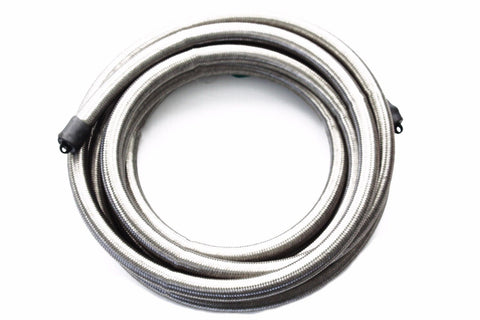 Premium Quality 10' of 12 AN Braided Stainless Steel Hose 10 ft. Length 11/16""