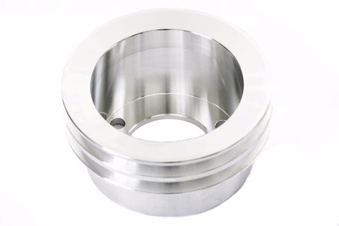 SBF Billet Aluminum Crank Pulley Double 2 Groove 3-Hole