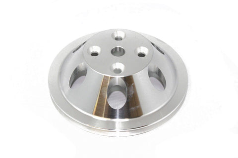 SBC Billet Aluminum Single Groove Long Water Pump Pulley