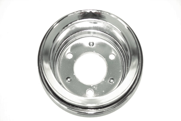SBF 289 Chrome Steel Crank Pulley Double 2 Groove 64-67