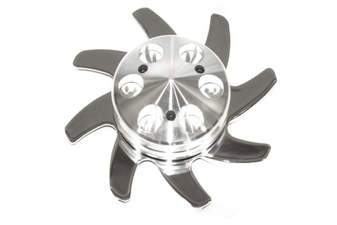 Polished Billet Aluminum Alternator Pulley w/ Fan GM Delco Ford