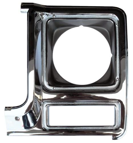 79-80 Chevy C10 Truck Black Inner Grill with LH & RH Headlight Bezels