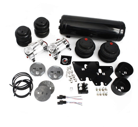 63-72 Chevy C10 Truck Air Ride Suspension Kit 2700/2600lbs Bags & 2 Compressors