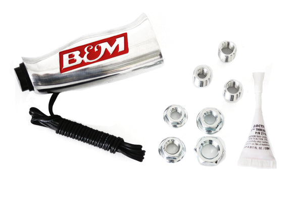 B&M Chrome Aluminum T Handle Transmission Shifter Knob w/ Button