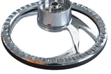 "Chrome Billet Aluminum 14"" Half Wrap Steering Wheel Kit 67-94 GM Column Adapter"