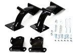 63-67 Chevy Truck Black Powdercoated Tubular V8 Engine Motor Mounts 350-454 Kit