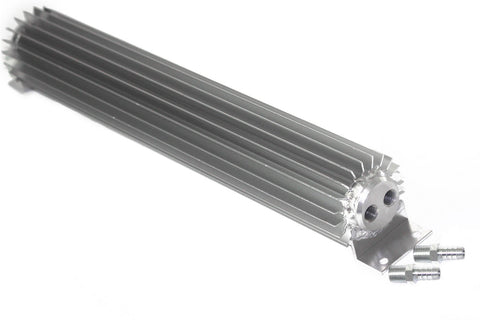 "Universal 18"" Dual Pass Aluminum Finned Transmission Oil Cooler"