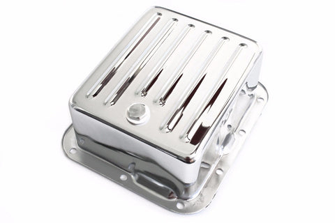 Chrome Ford C4 Deep Extra Capacity Case Fill Finned Transmission Pan