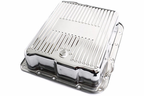 Chrome Chevy 700R4 Overdrive Deep Extra Capacity Finned Transmission Pan 4L60E