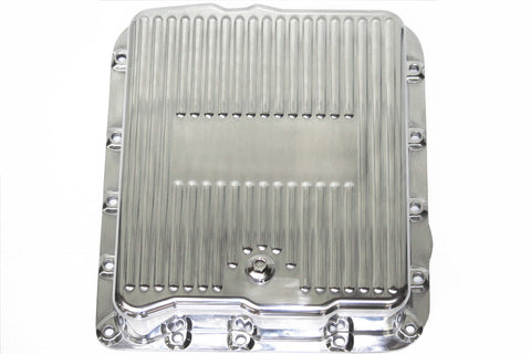 Finned Polished Aluminum Chevy 700r4 & 4L60E Transmission Pan Deep Capacity