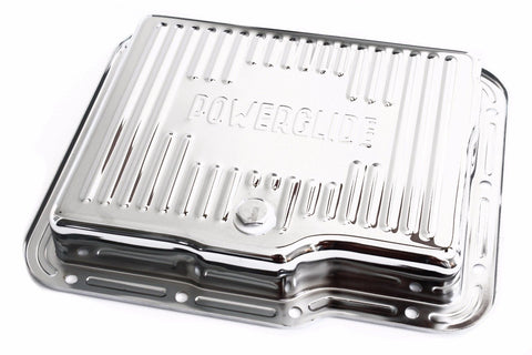 Chrome Chevy Powerglide Stock Capacity Transmission Pan