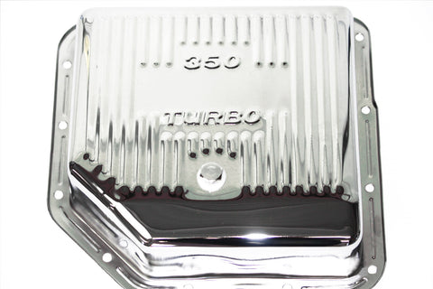 Chrome Chevy TH350 Deep Transmission Pan Extra Capacity Turbo