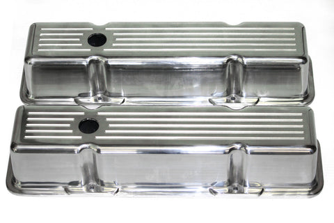 58-86 SBC Polished Aluminum Ball-Milled Tall Valve Covers