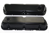 SBF Black Powdercoated Steel Baffled Tall Valve Covers 62-up Ford