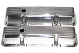 Nostalgic Polished Aluminum Finned SBC Tall Valve Covers 58-86