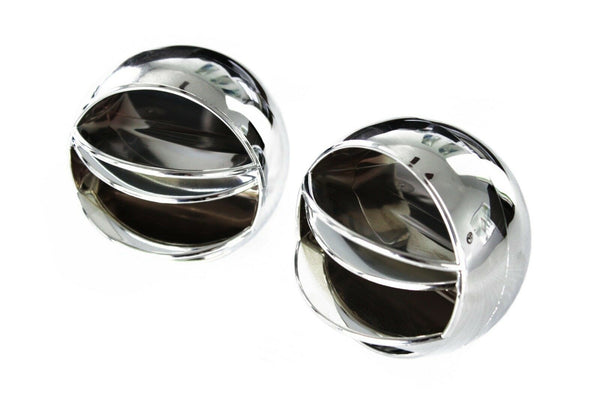 67-72 Chevy/GMC C10 Truck Chrome Round A/C Side & Center Vents Air Conditioning