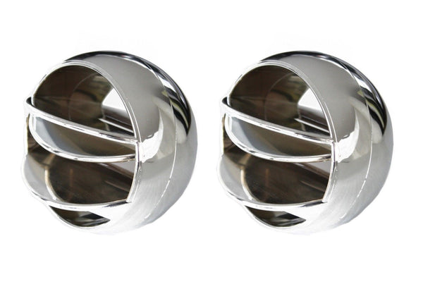 67-72 Chevy/GMC C10 Truck Chrome & Black Round A/C Side Vents Air Conditioning