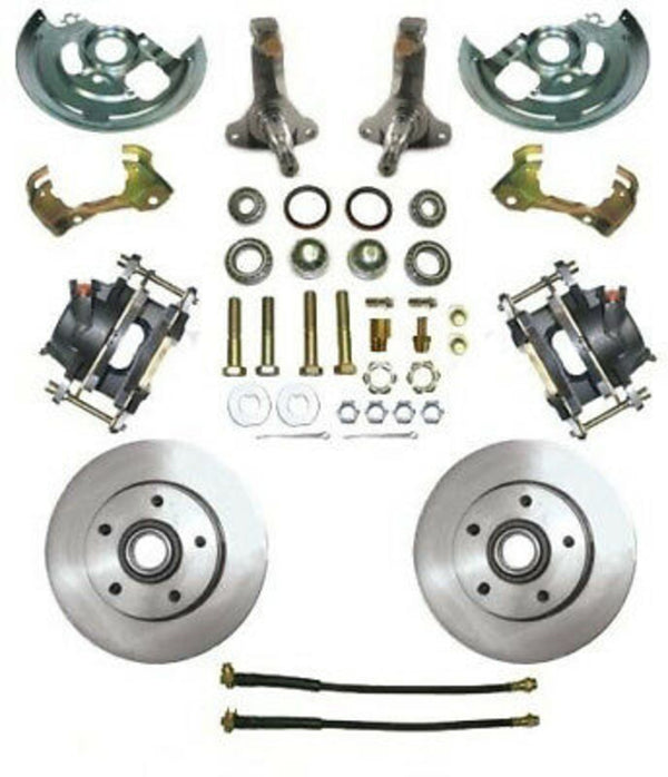 A F X Body GM MBM Front Disc Brake Kit w/ Chrome Booster & Master Cylinder