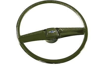 "69-72 Chevy C10 Truck Green 17"" Original Steering Wheel Kit w/ Horn Button"