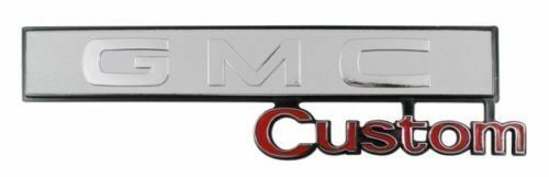 "69-72 C10 Truck ""GMC Custom"" Glove Box Emblem"