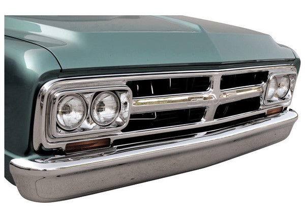 67-72 Chevy/GMC C10 Truck Custom Smoothie Triple Chrome Plated Front Bumper