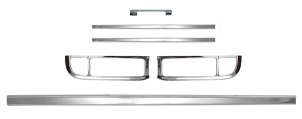 67-72 Chevy C10 Truck 6PC Rear Tailgate & Tail Light Lamp Fleetside Trim Molding