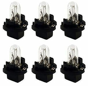 6-Pack 67-80 Chevy C10 Truck Instrument Light Bulb & Socket Printed Circuit Dash