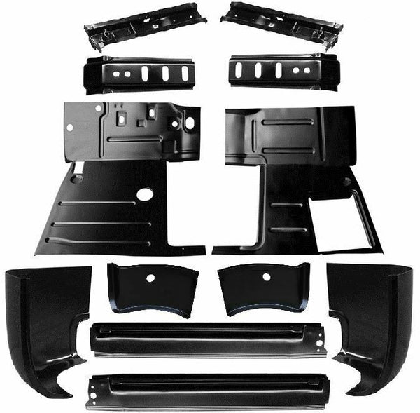 47-54 Chevy/GMC Truck LH/RH Cab Corner Rocker Panel Cab Mount Floor Pan 12PC Kit