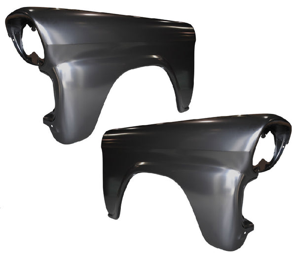 58-59 Chevy Pickup Truck Front LH & RH Side Fenders (Pair) **Restoration Grade**