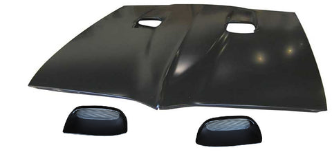 67-69 Pontiac Firebird 400 Style Hood with Louvre Inserts