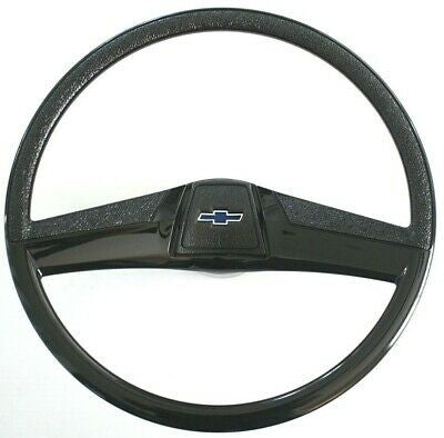 "69-72 Chevy C10 Truck Black Custom 15"" Steering Wheel Kit with Horn Button"