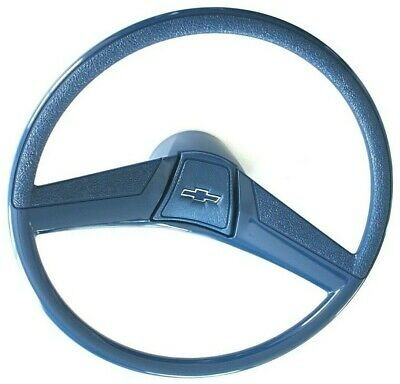 "69-72 Chevy C10 Truck Blue Custom 15"" Steering Wheel Kit with Horn Button"