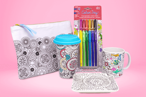 adult coloring set for christmas