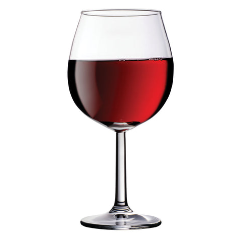 half filled red wine xl wine glass