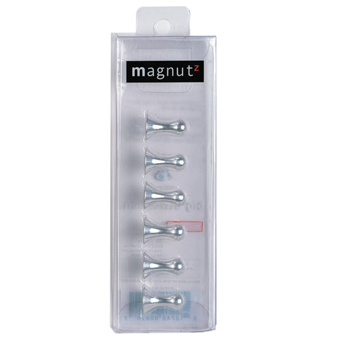 six silver magnutz inside its packaging