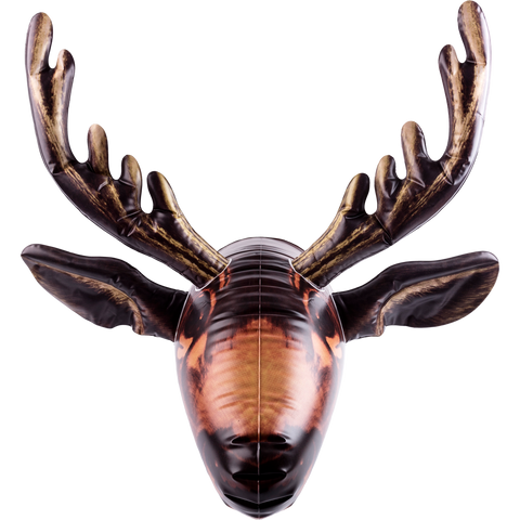 inflatable moose head facing front