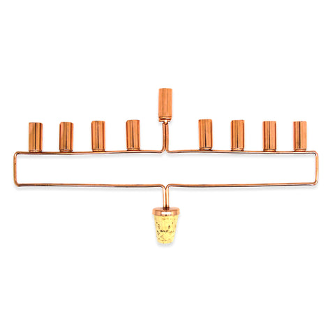 copper menorah wine bottle cork