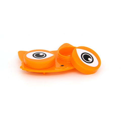 orange fox eyes contact lens case