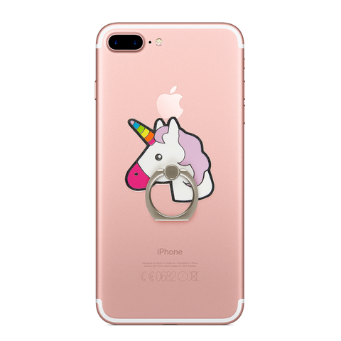 unicorn phone finger ring attached at the back of the iphone