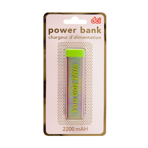 Glitter USB/Mini USB Power Bank: You Got This