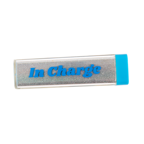 Glitter USB/Mini USB Power Bank: In Charge