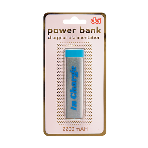 blue glitter usb/ mini usb power bank in charge packaging
