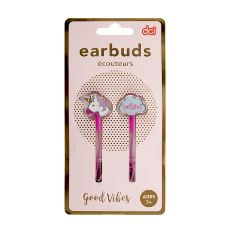 unicorn dreams cute earbuds packaging