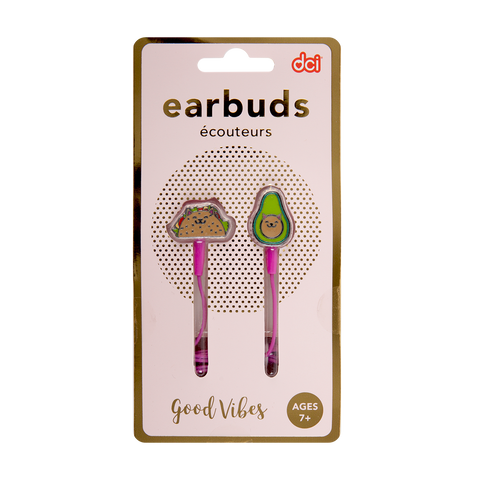 gato taco cute earbuds in its packaging