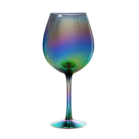 XL Wine Glass: Rainbow Luster
