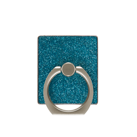 blue glitter phone finger ring